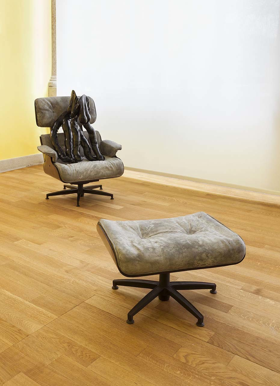 """<div class=""""artwork_caption""""><p>Tit-Cat Eames Chair, 2015 © British Council</p></div>"""