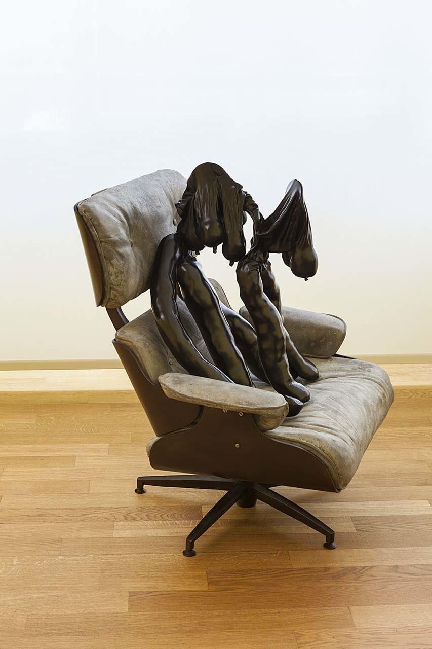 """<div class=""""artwork_caption""""><p>Tit-Cat Eames Chair, 2015 (detail) © British Council</p></div>"""