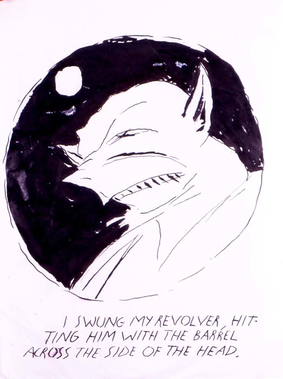 <p>No Title (I swung my revolver), 2001</p>