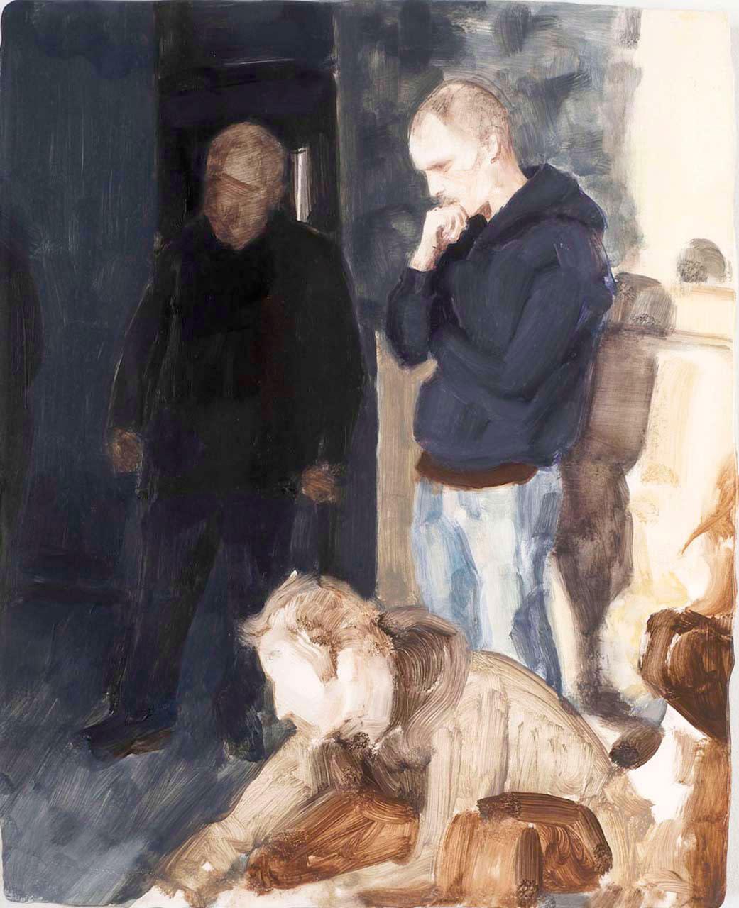 "<div class=""artwork_caption""><p>Dakis, Matthew and Boris, 2009</p></div>"