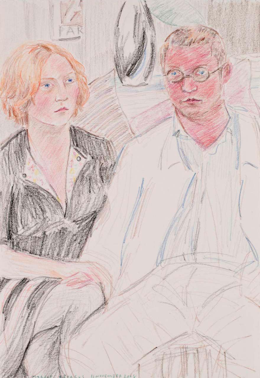 """<div class=""""artwork_caption""""><p>Margot + Fergus, 11 November 2008, 2009</p></div>"""