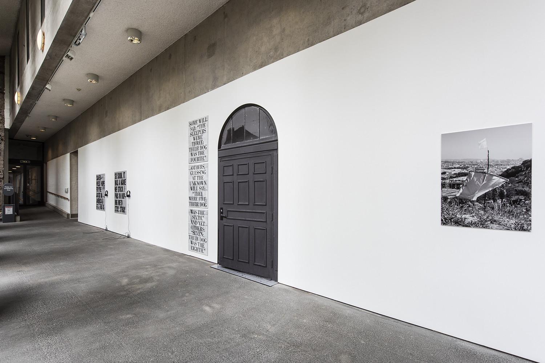 <p>Installation view,<em>SEVEN SLEEPERS</em>(2018),<em>TEMPLE HIGH AND LOW</em>(2017), <em>STRAY</em> (2017), Liverpool Biennial 2018<br />Photo:Thierry Bal</p>