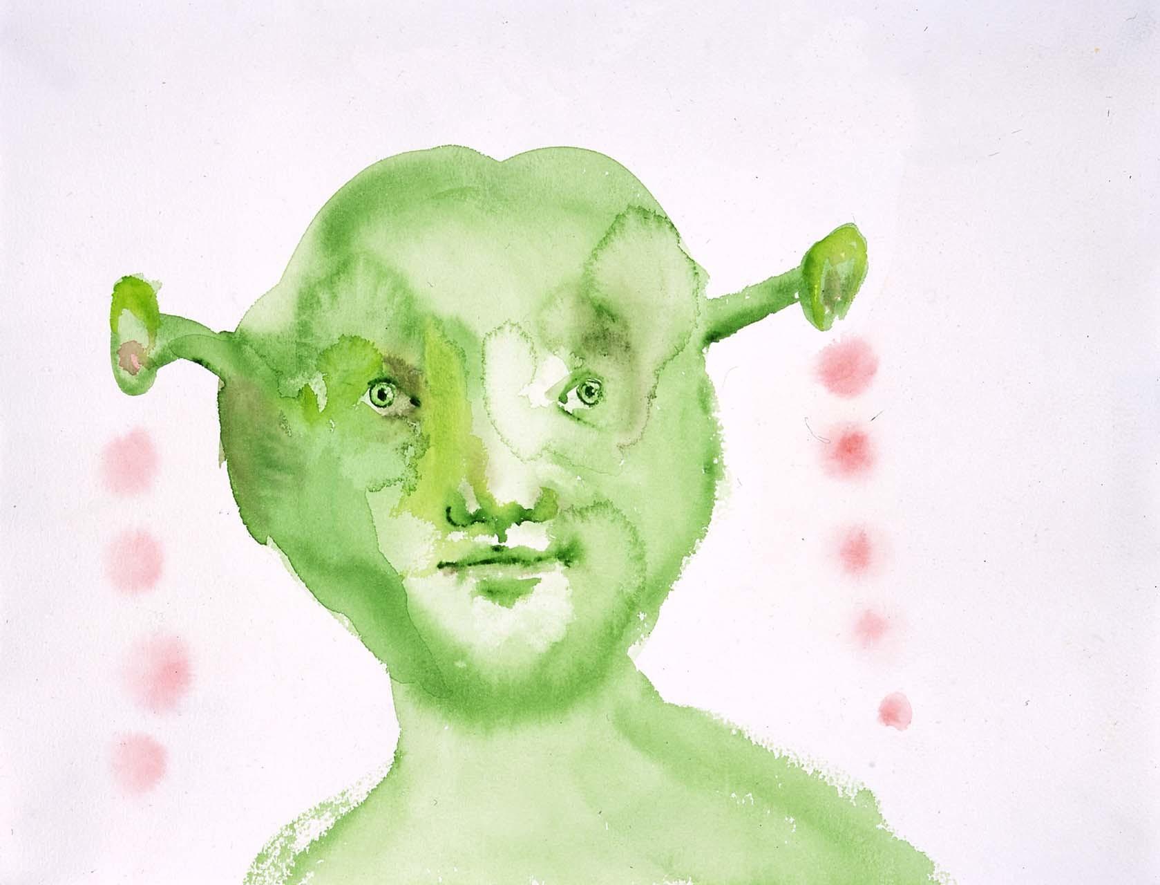 """<div class=""""artwork_caption""""><p>Greenface, 2005</p></div>"""