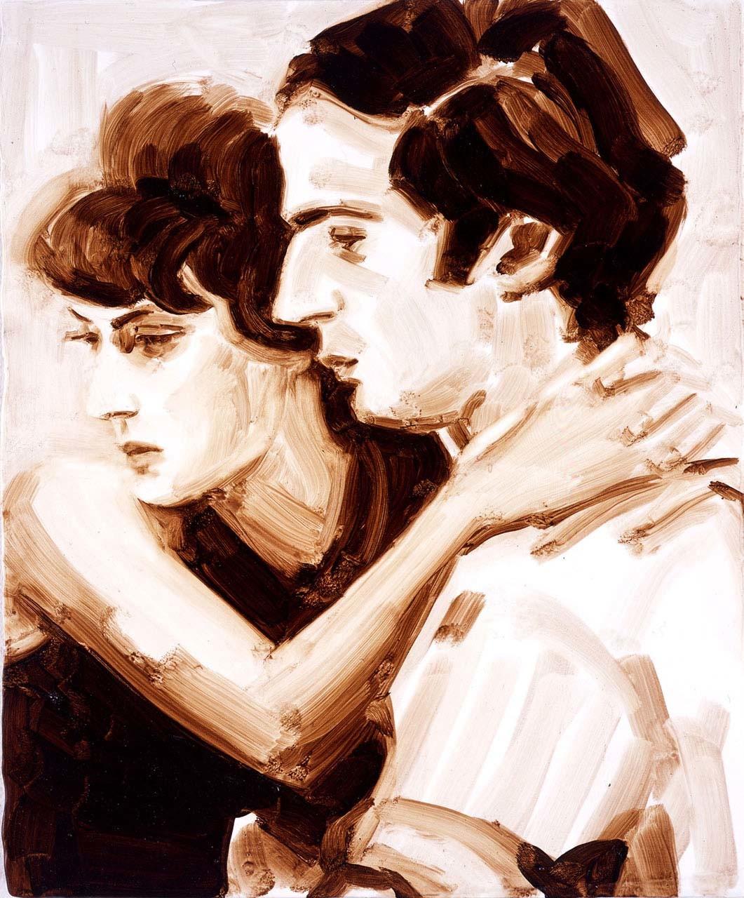 """<div class=""""artwork_caption""""><p>Jeanne Moreau and François Truffaut (The Bride Wore Black), 2005</p></div>"""