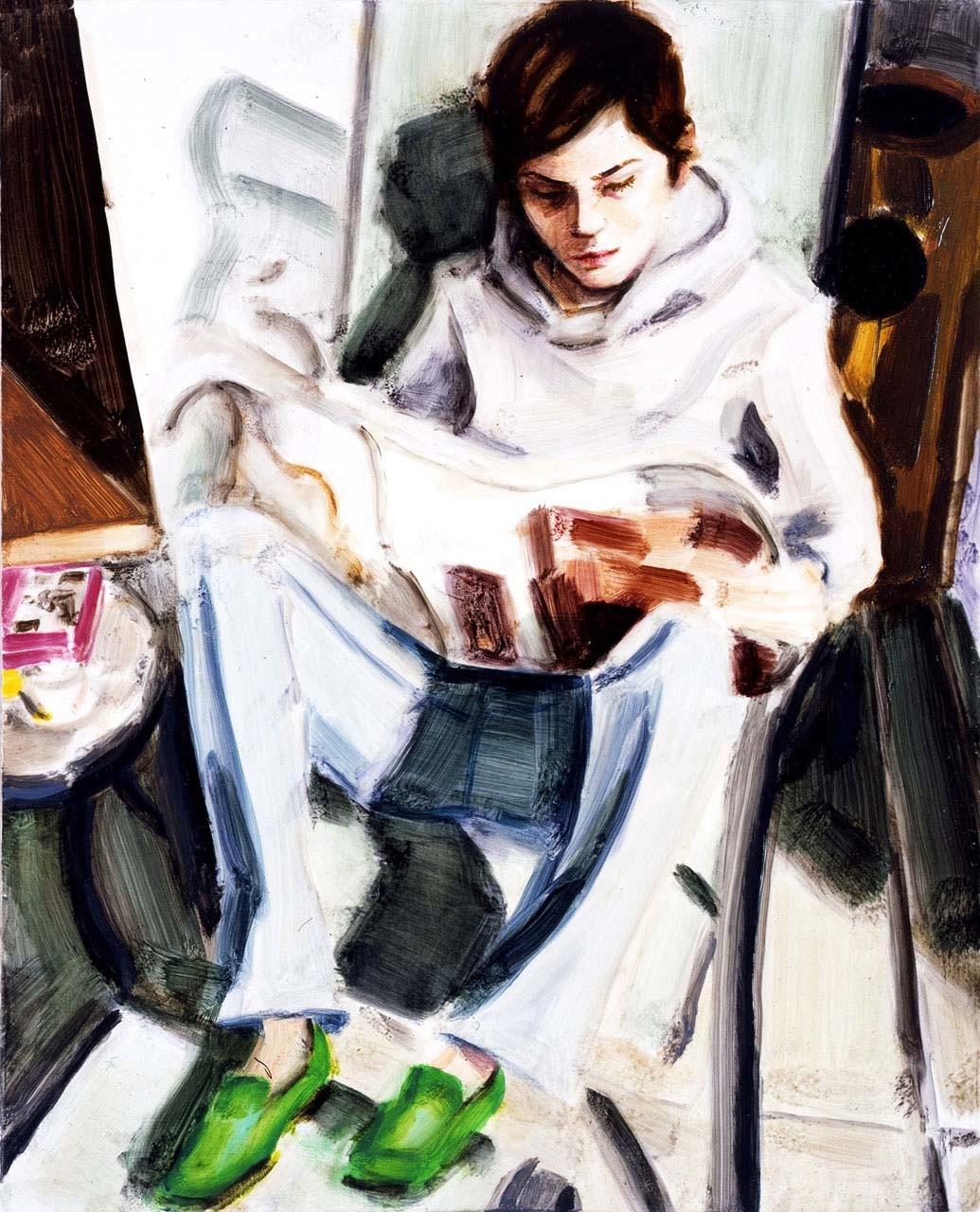 """<div class=""""artwork_caption""""><p>EP Reading (Self-Portrait), 2005</p></div>"""