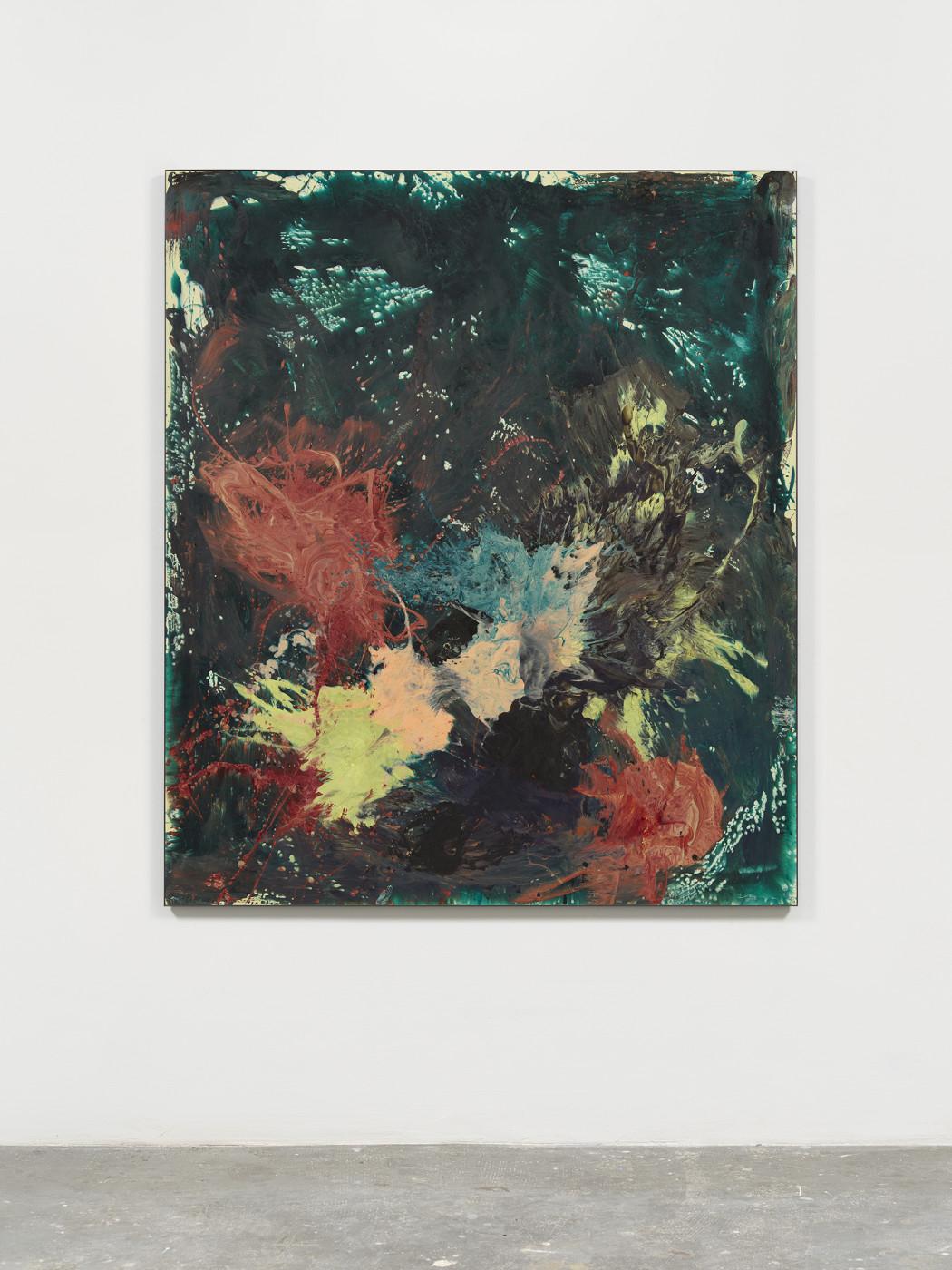 <p><i>Green Painting</i><br /><span>2019</span><br /><span>Cast urethane resin, fiberglass, epoxy</span><br /><span>69.5 x 60 in</span></p>