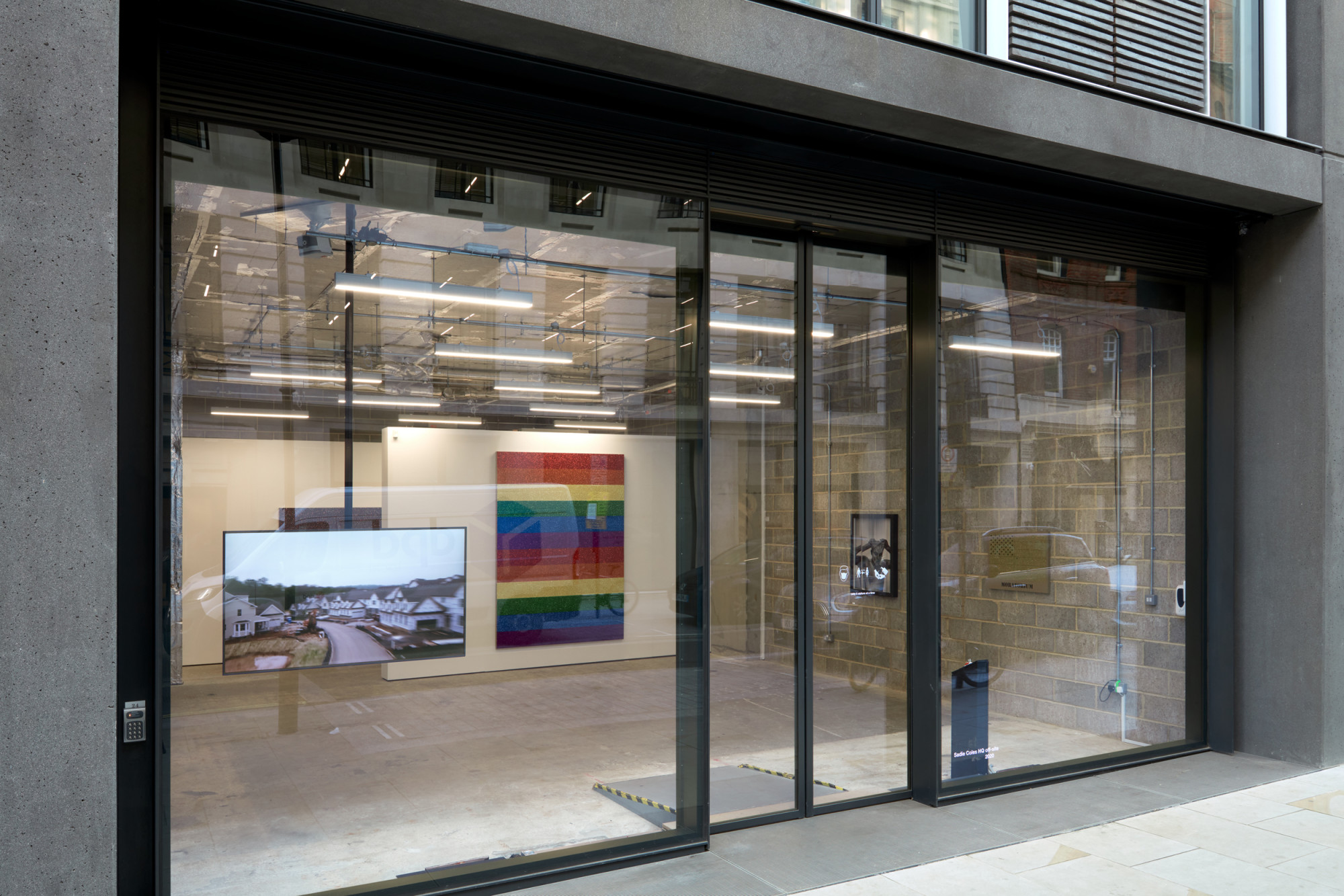 """<div class=""""artwork_caption""""><p>Installation view,DIS / Jonathan Horowitz, Sadie Coles HQ and Project Native Informant,24 Cork Street W1, 6 October - 31 October 2020</p><p>Photography by Robert Glowacki</p></div>"""