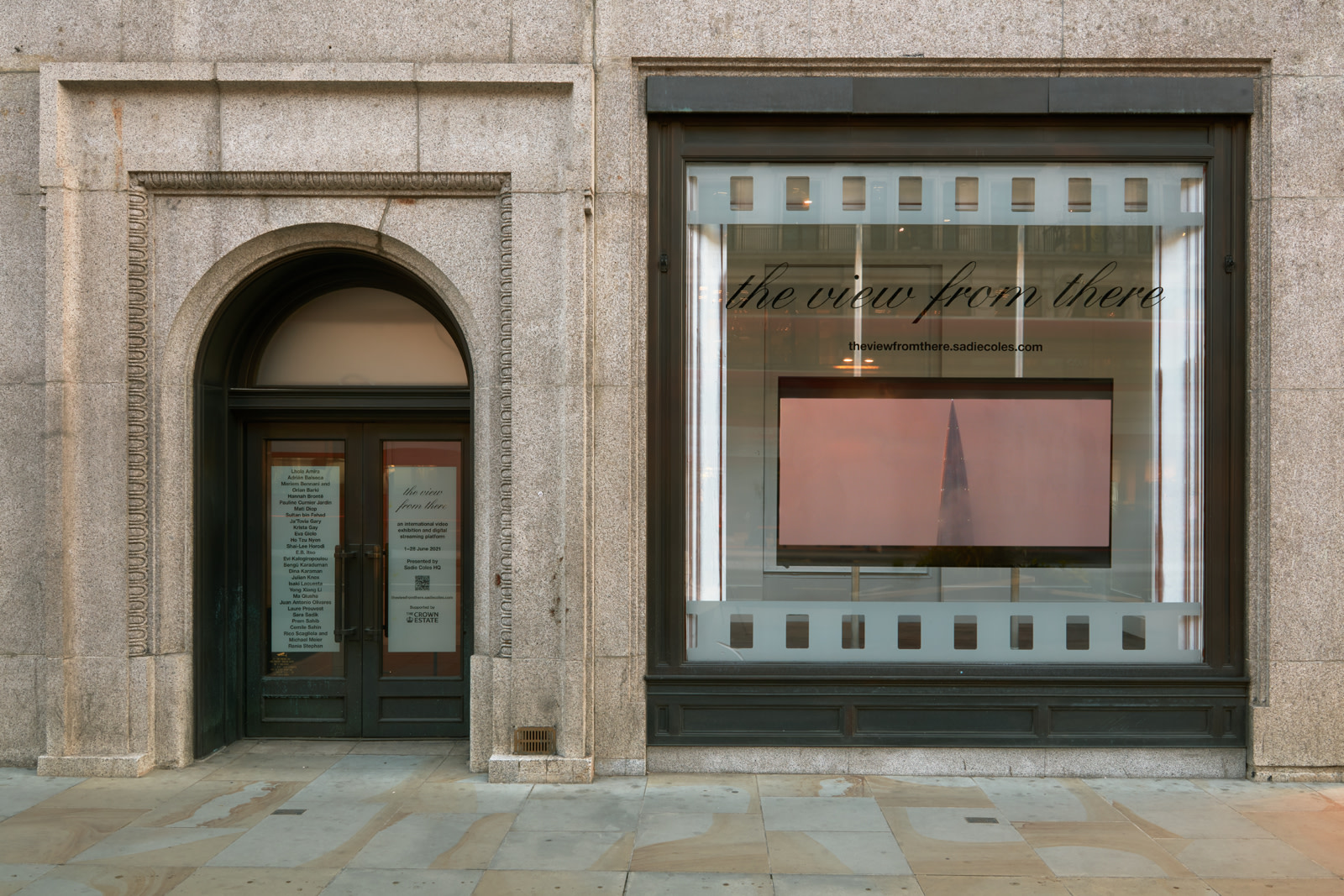 """<div class=""""artwork_caption""""><p>Installation view,<em>the view from there</em>,Sadie Coles HQ offsite at 169 - 173 Regent Street, W1, 1 - 28 June 2021</p><p>Photography byRobert Glowacki</p></div>"""
