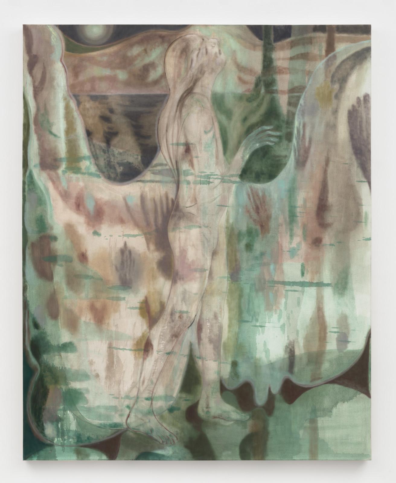 "<div class=""artist""><strong>Maja Ruznic</strong></div> <div class=""title""><em>The Call</em>, 2019</div> <div class=""medium"">Oil on canvas</div> <div class=""dimensions"">205.7 x 165.1 cm<br /> 81 x 65 in</div>"