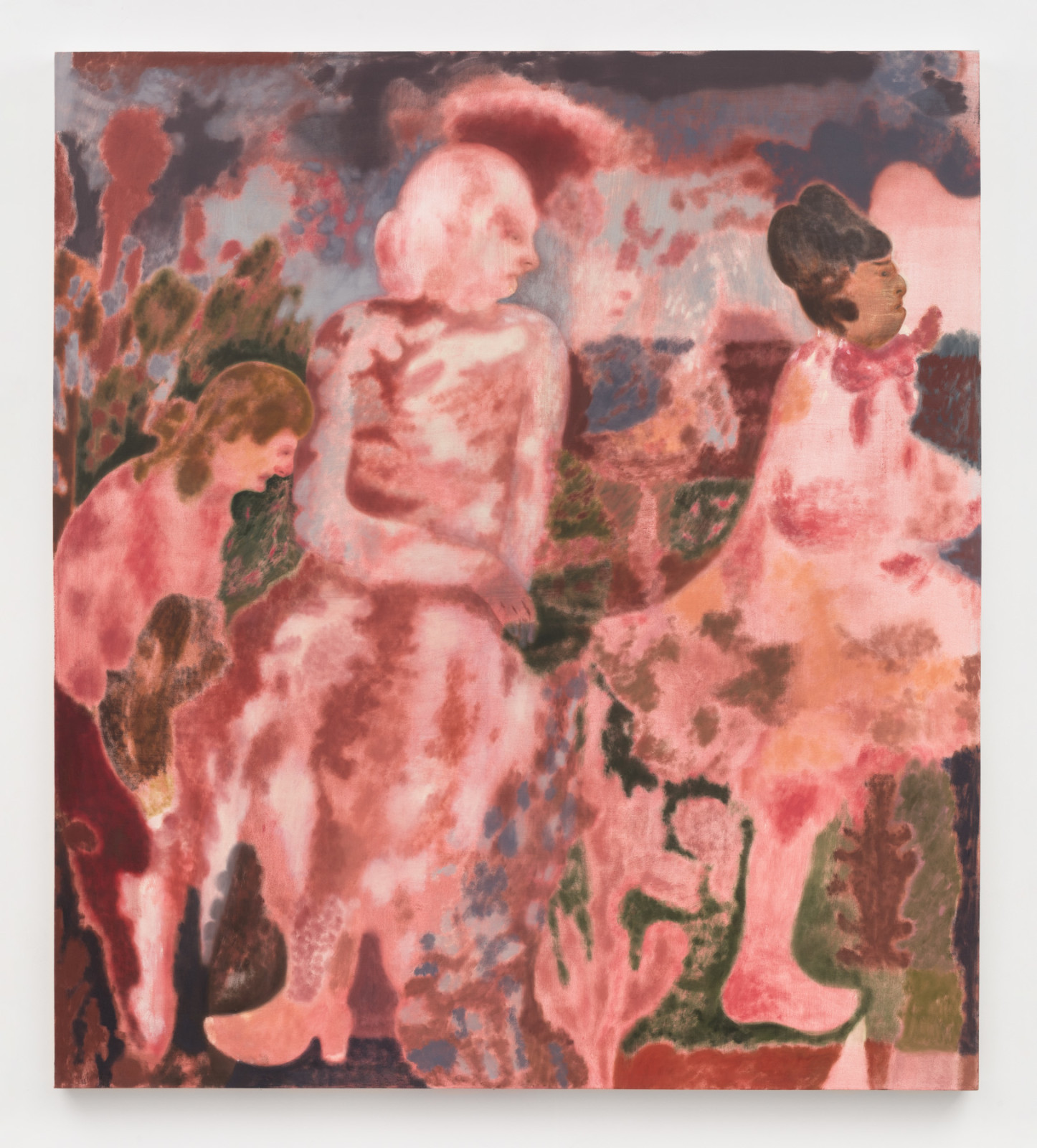 """<div class=""""artist""""><strong>Maja Ruznic</strong></div> <div class=""""title""""><em>The Mother and Her Poets</em>, 2018</div> <div class=""""medium"""">Oil on canvas</div> <div class=""""dimensions"""">203.2 x 180.3 cm<br /> 80 x 71 in</div>"""
