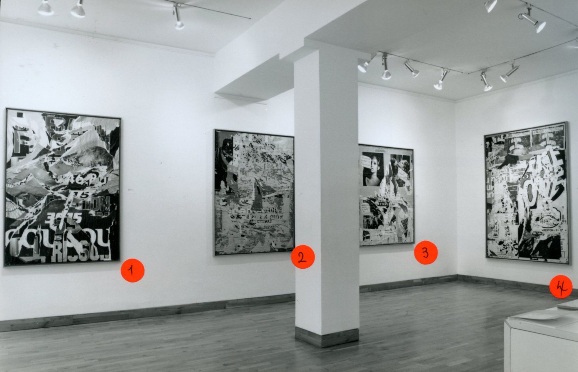 """<span class=""""link fancybox-details-link""""><a href=""""/exhibitions/147/works/image_standalone606/"""">View Detail Page</a></span><p>JACQUES VILLEGLE WORKS FROM 1955 - 1991 