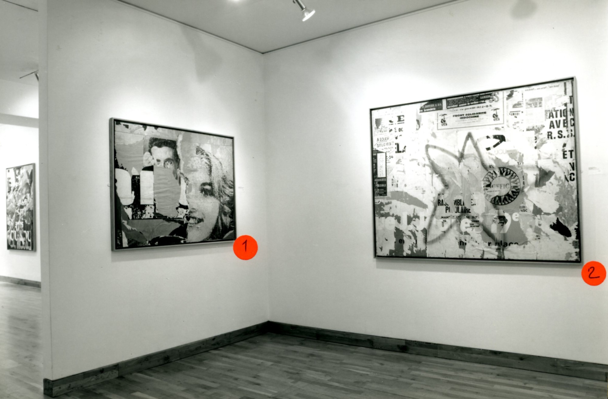 """<span class=""""link fancybox-details-link""""><a href=""""/exhibitions/147/works/image_standalone608/"""">View Detail Page</a></span><p>JACQUES VILLEGLE WORKS FROM 1955 - 1991 