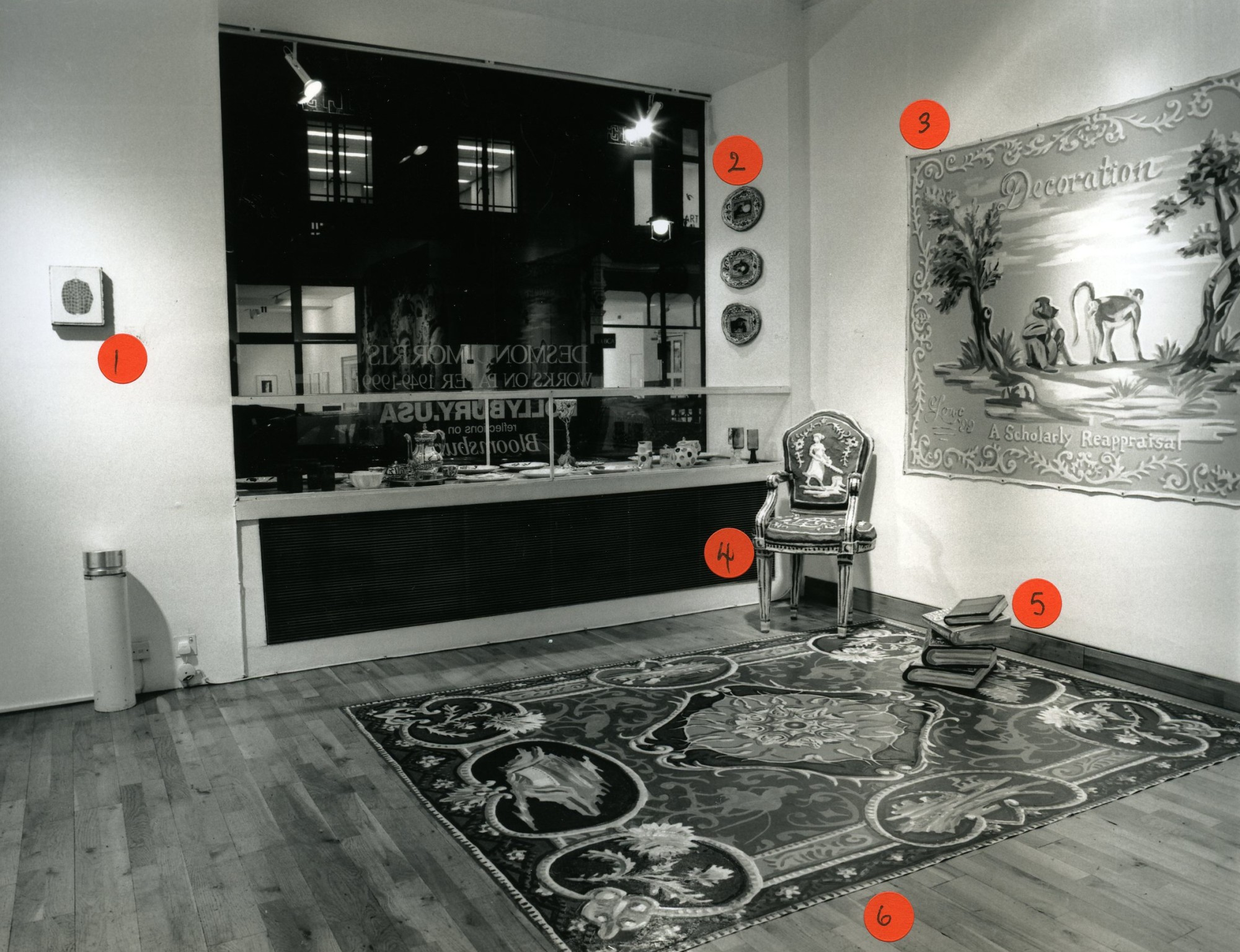 """<span class=""""link fancybox-details-link""""><a href=""""/exhibitions/153/works/image_standalone648/"""">View Detail Page</a></span><p>HOLLYBURY USA   A REFLECTION ON BLOOMSBURY   23 NOV - 23 DEC 1999   Installation View</p>"""