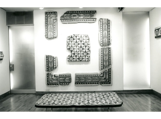 """<span class=""""link fancybox-details-link""""><a href=""""/exhibitions/186/works/image_standalone858/"""">View Detail Page</a></span><p>EARLY ABSTRACTION   2ND CENTURY A.D. ROMAN MOSAICS   02 FEB - 24 MAR 1995   Installation View</p>"""