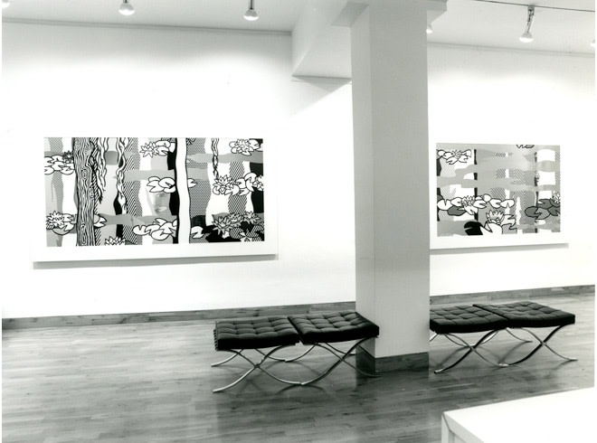"""<span class=""""link fancybox-details-link""""><a href=""""/exhibitions/201/works/image_standalone946/"""">View Detail Page</a></span><p>ROY LICHTENSTEIN   WATER LILIES   16 NOV - 24 DEC 1992   Installation View</p>"""