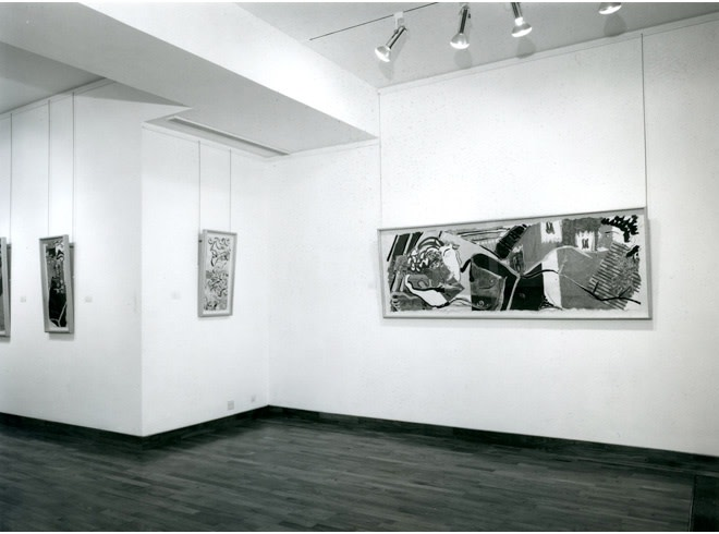 """<span class=""""link fancybox-details-link""""><a href=""""/exhibitions/254/works/image_standalone1311/"""">View Detail Page</a></span><p>ROBERT KUSHNER   RECENT PAINTINGS   18 SEP - 26 OCT 1985   Installation View</p>"""