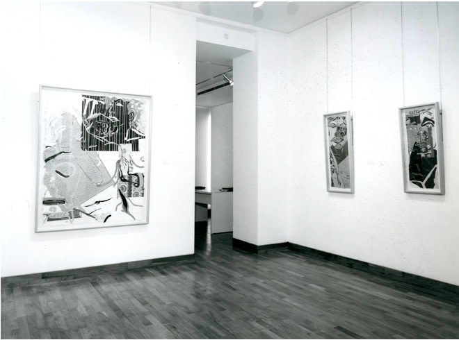 """<span class=""""link fancybox-details-link""""><a href=""""/exhibitions/254/works/image_standalone1312/"""">View Detail Page</a></span><p>ROBERT KUSHNER   RECENT PAINTINGS   18 SEP - 26 OCT 1985   Installation View</p>"""