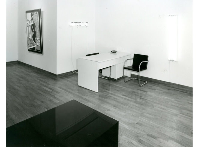 """<span class=""""link fancybox-details-link""""><a href=""""/exhibitions/258/works/image_standalone1334/"""">View Detail Page</a></span><p>A TRIBUTE TO LEO CASTELLI   16 APR - 17 MAY 1985   Installation View</p>"""