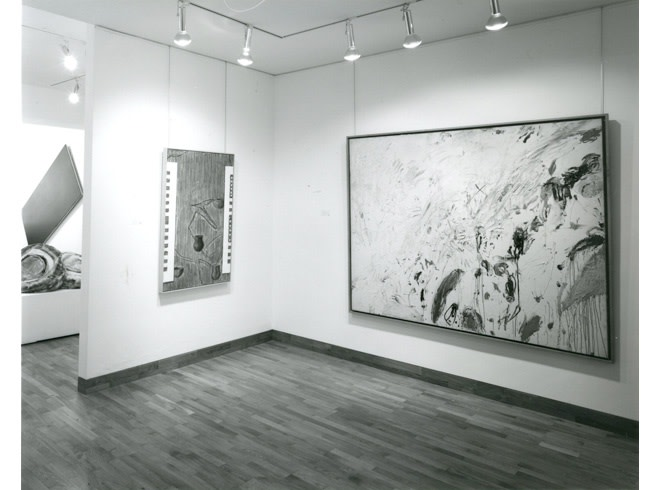 """<span class=""""link fancybox-details-link""""><a href=""""/exhibitions/258/works/image_standalone1339/"""">View Detail Page</a></span><p>A TRIBUTE TO LEO CASTELLI   16 APR - 17 MAY 1985   Installation View</p>"""