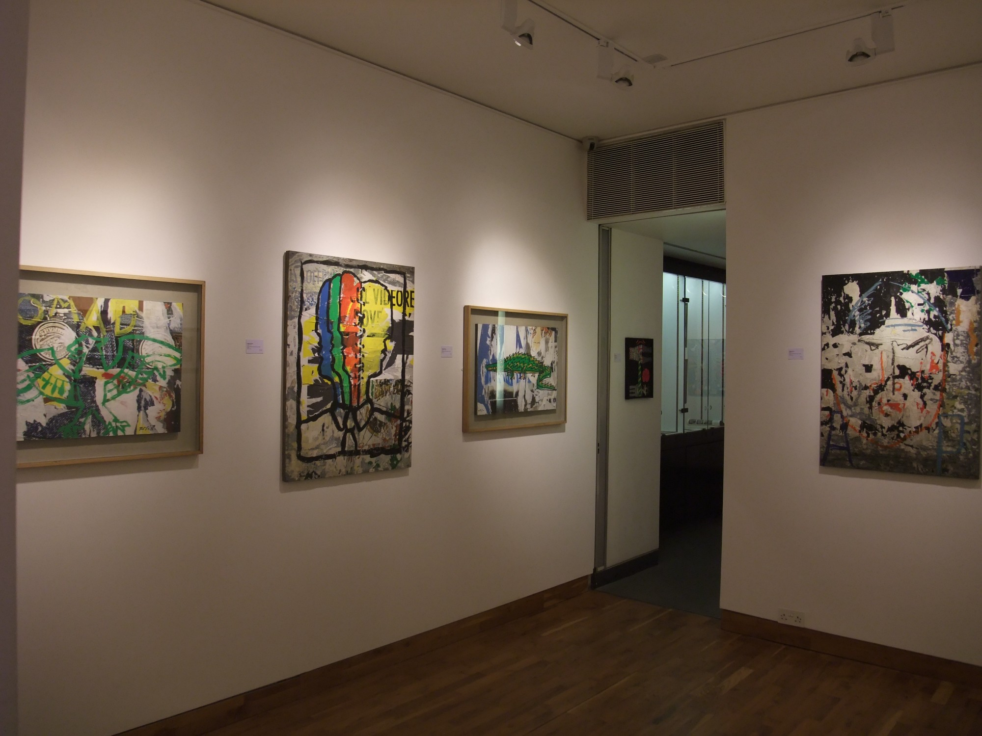 """<span class=""""link fancybox-details-link""""><a href=""""/exhibitions/97/works/image_standalone338/"""">View Detail Page</a></span><p>MIMMO ROTELLA & JACQUES VILLEGLÉ   22 SEP - 24 OCT 2008   Installation View</p>"""