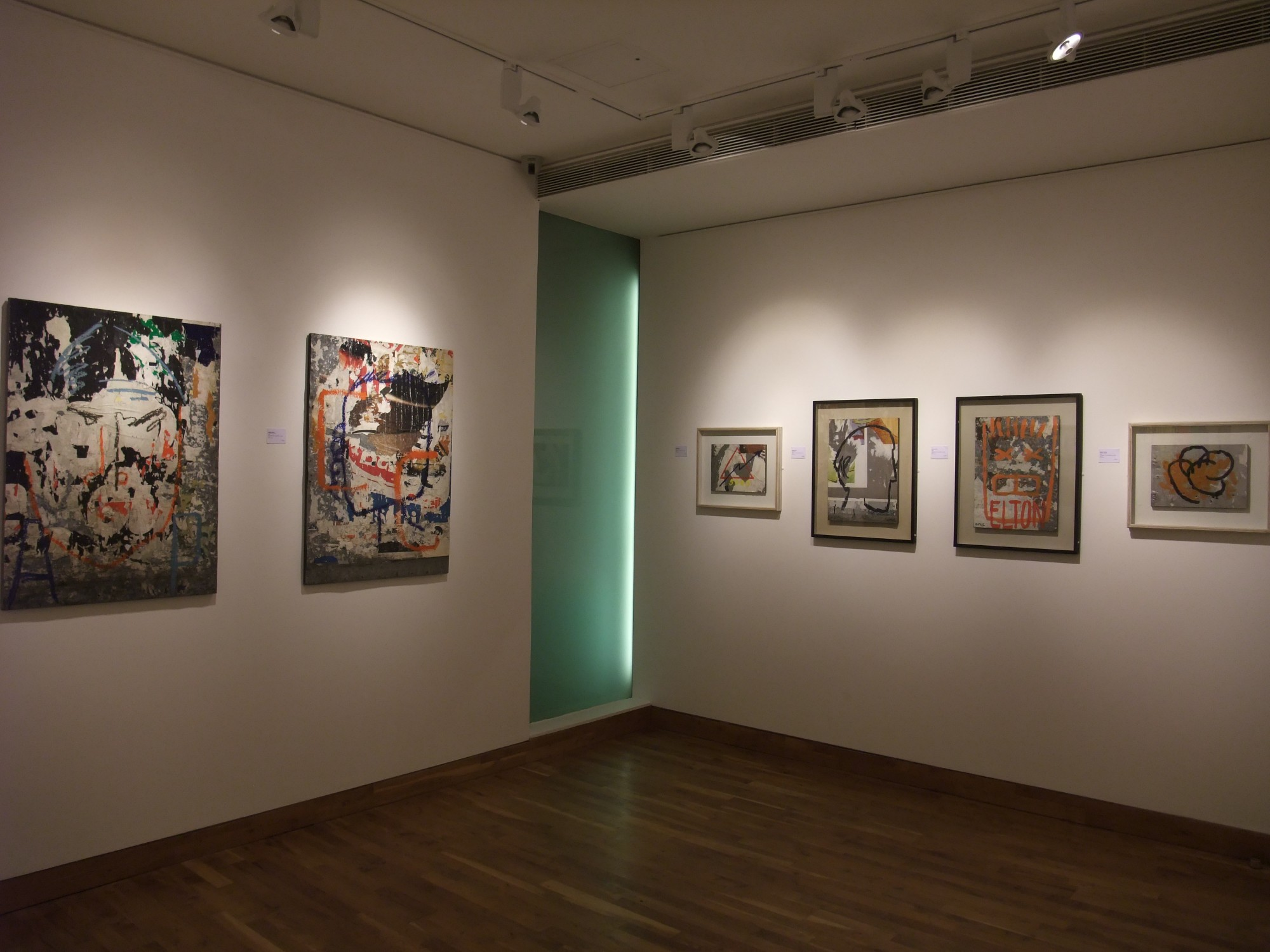 """<span class=""""link fancybox-details-link""""><a href=""""/exhibitions/97/works/image_standalone339/"""">View Detail Page</a></span><p>MIMMO ROTELLA & JACQUES VILLEGLÉ   22 SEP - 24 OCT 2008   Installation View</p>"""