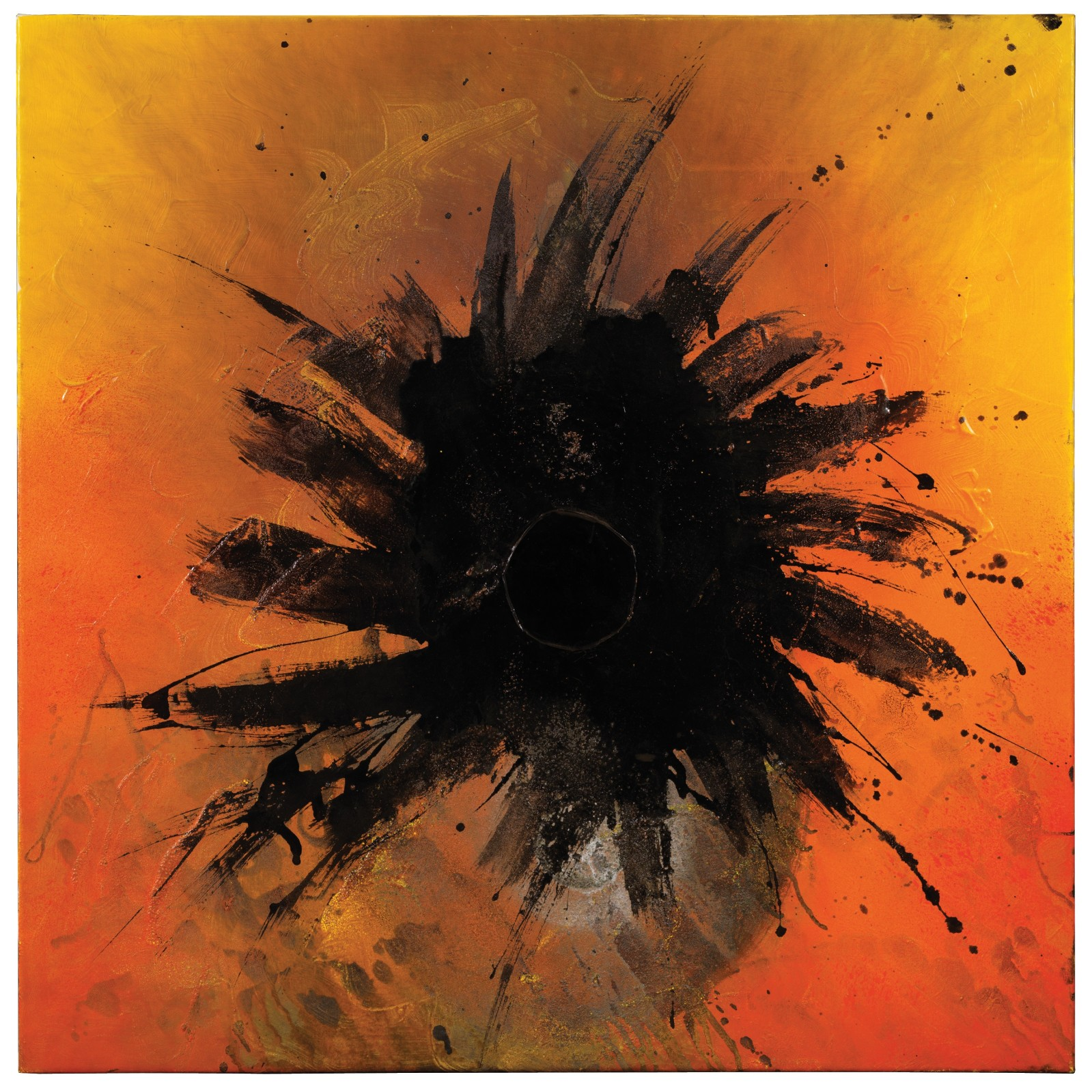 """<span class=""""link fancybox-details-link""""><a href=""""/artists/47-otto-piene/works/9688/"""">View Detail Page</a></span><div class=""""artist""""><span class=""""artist""""><strong>OTTO PIENE</strong></span></div><div class=""""title""""><em>Brush Star</em>, 1986/7</div><div class=""""medium"""">Oil and fire on canvas<br /> </div><div class=""""dimensions"""">100 x 100 cm<br /> 39 3/8 x 39 3/8 inches</div>"""