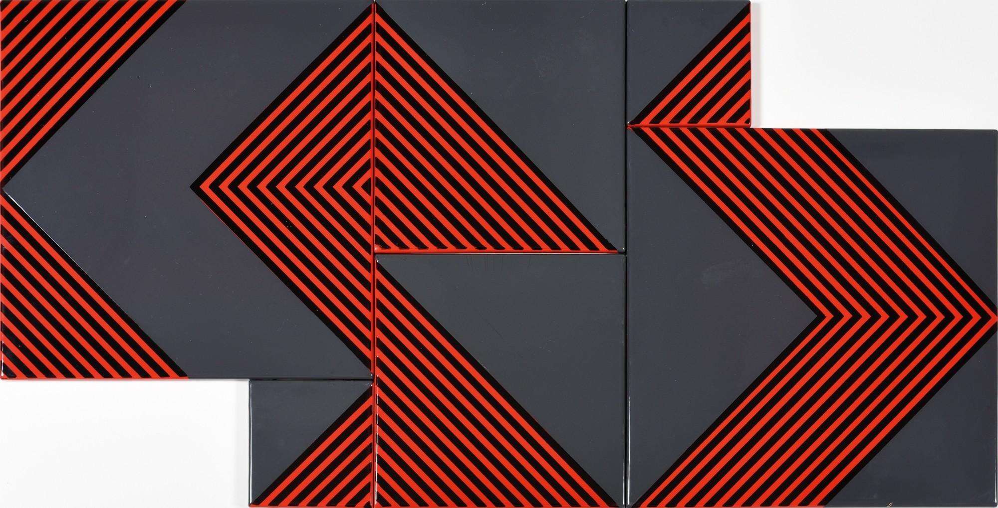 "<span class=""link fancybox-details-link""><a href=""/artists/213-kalman-szijarto/works/10787/"">View Detail Page</a></span><div class=""artist""><span class=""artist""><strong>KÁLMÁN SZIJÁRTÓ</strong></span></div><div class=""title""><em>Untitled (Grey-Red)</em>, 1970</div><div class=""medium"">Enamel on iron plate</div><div class=""dimensions"">60 x 120 cm<br /> 23 ½ x 47 ¼ inches</div>"