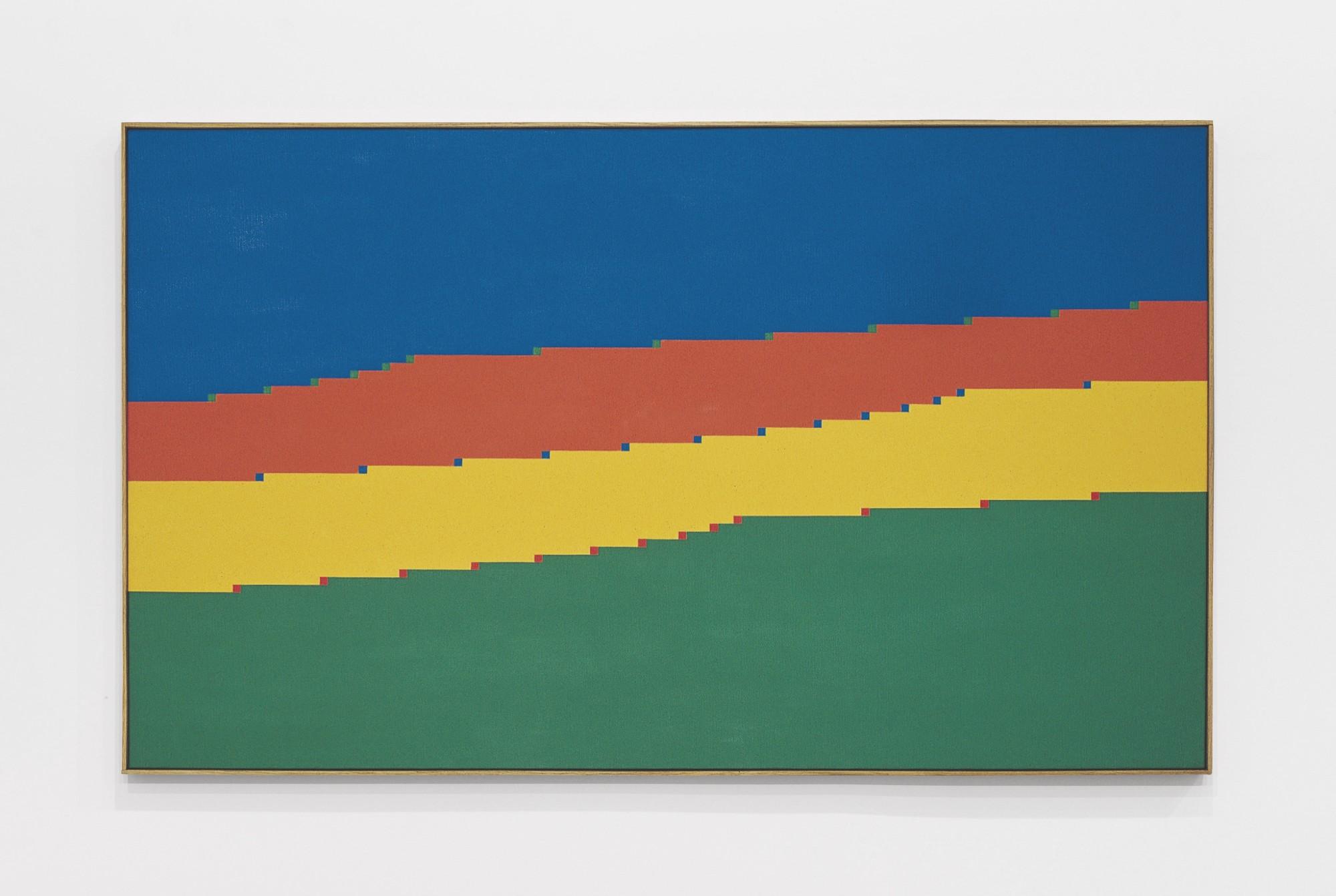 "<span class=""link fancybox-details-link""><a href=""/exhibitions/554/works/artworks_standalone10855/"">View Detail Page</a></span><div class=""artist""><span class=""artist""><strong>VERENA LOEWENSBERG</strong></span></div><div class=""title""><em>Untitled</em>, 1973</div><div class=""medium"">Oil on canvas</div><div class=""dimensions"">81 x 136 cm<br />31 ⅞ x 53 ½ inches</div>"