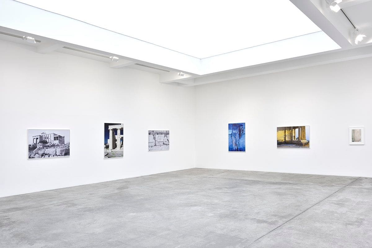 An installation view of James Welling's work at MGG Paris