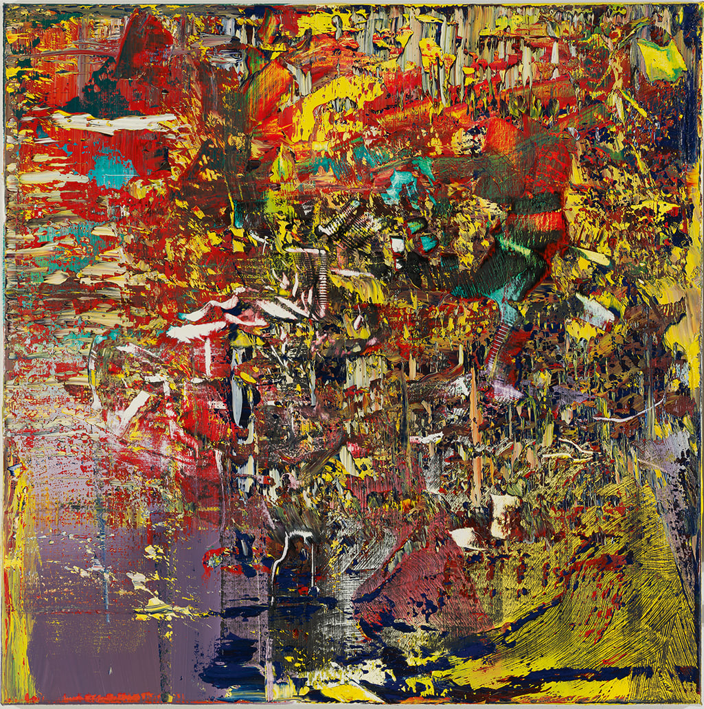 An abstract painting by Gerhard Richter.