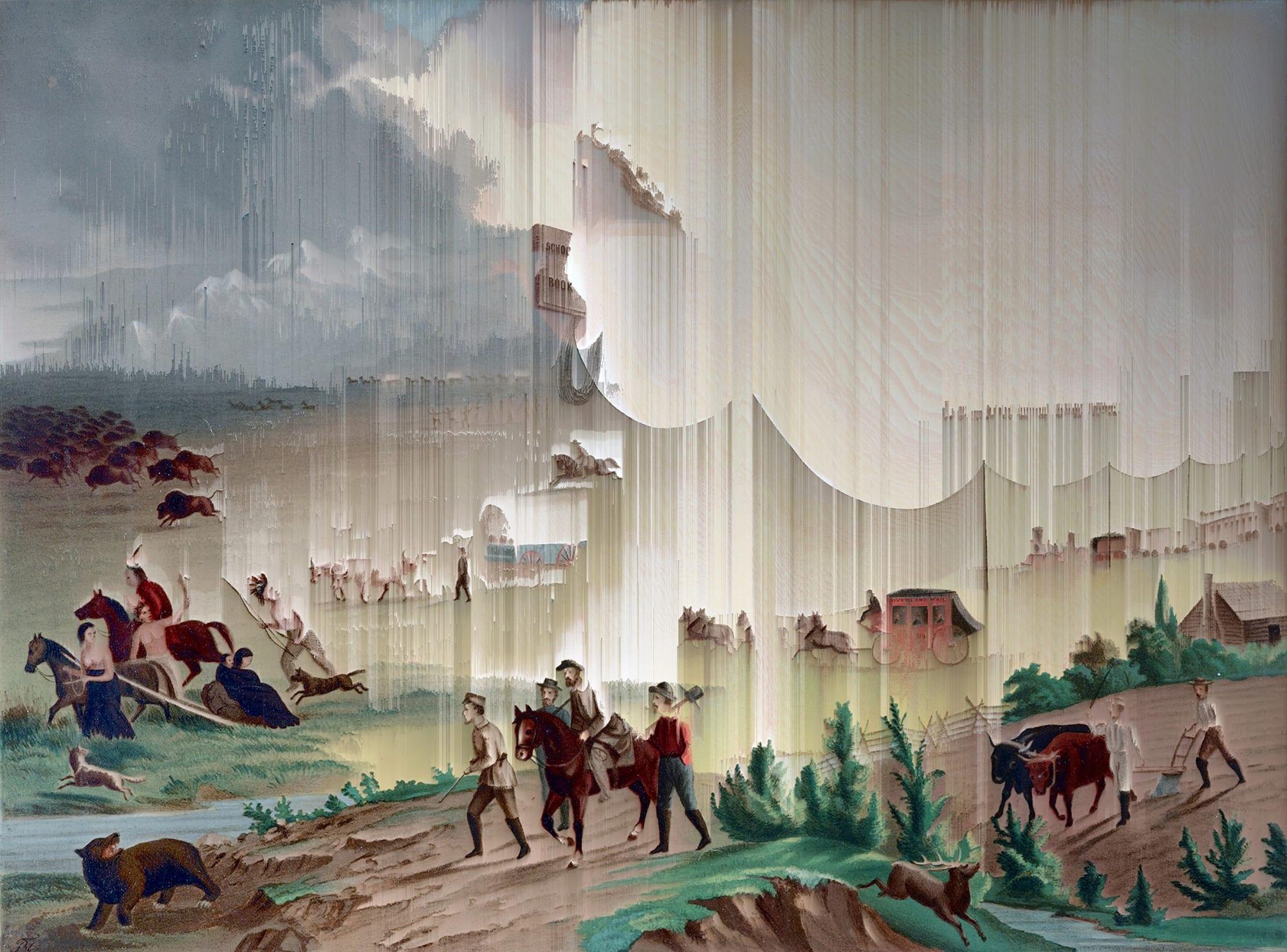 Gordon Cheung, Manifest Destiny, 1872 (after John Gast), 2017