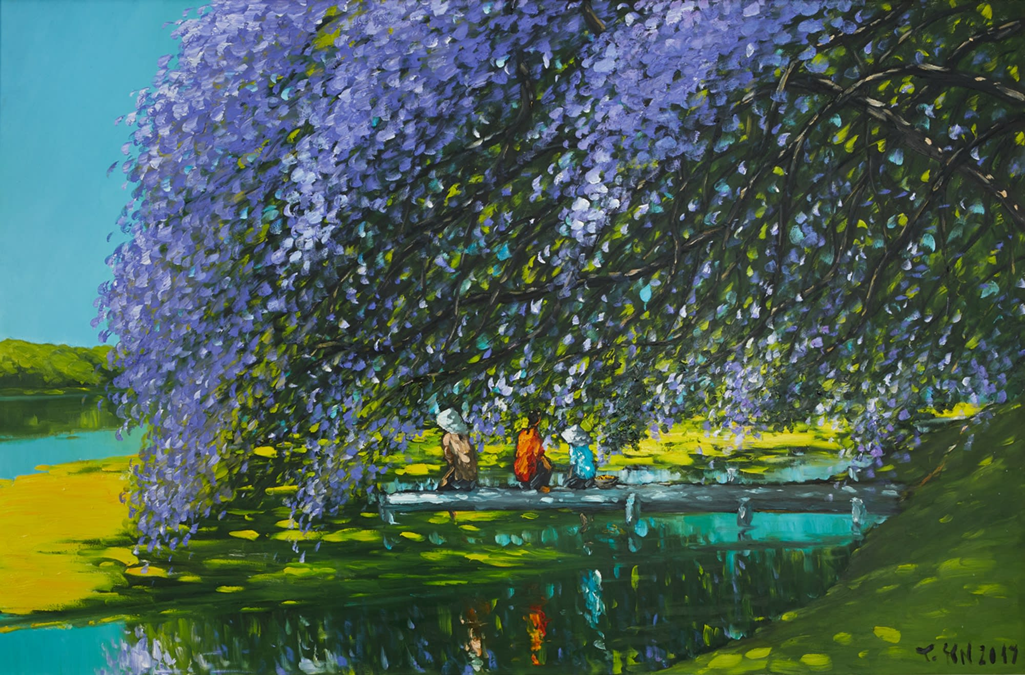 Le Thanh Son, At The River Painting