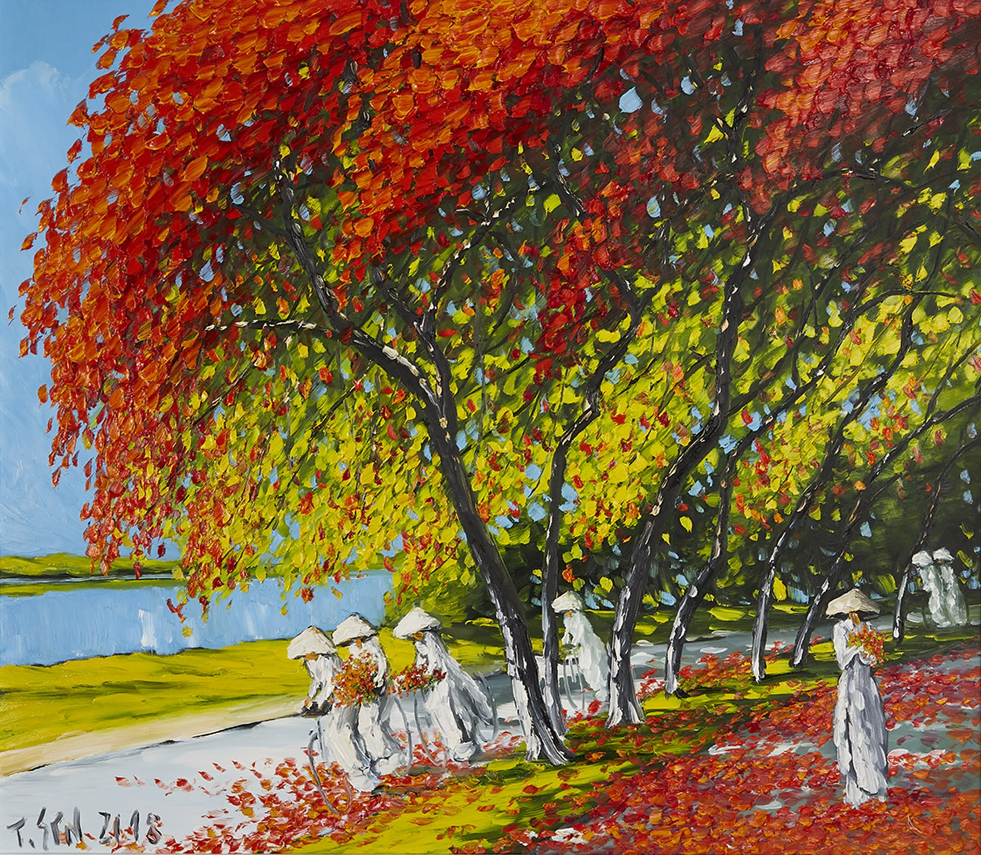 Expressonist painting by Le Thanh Son