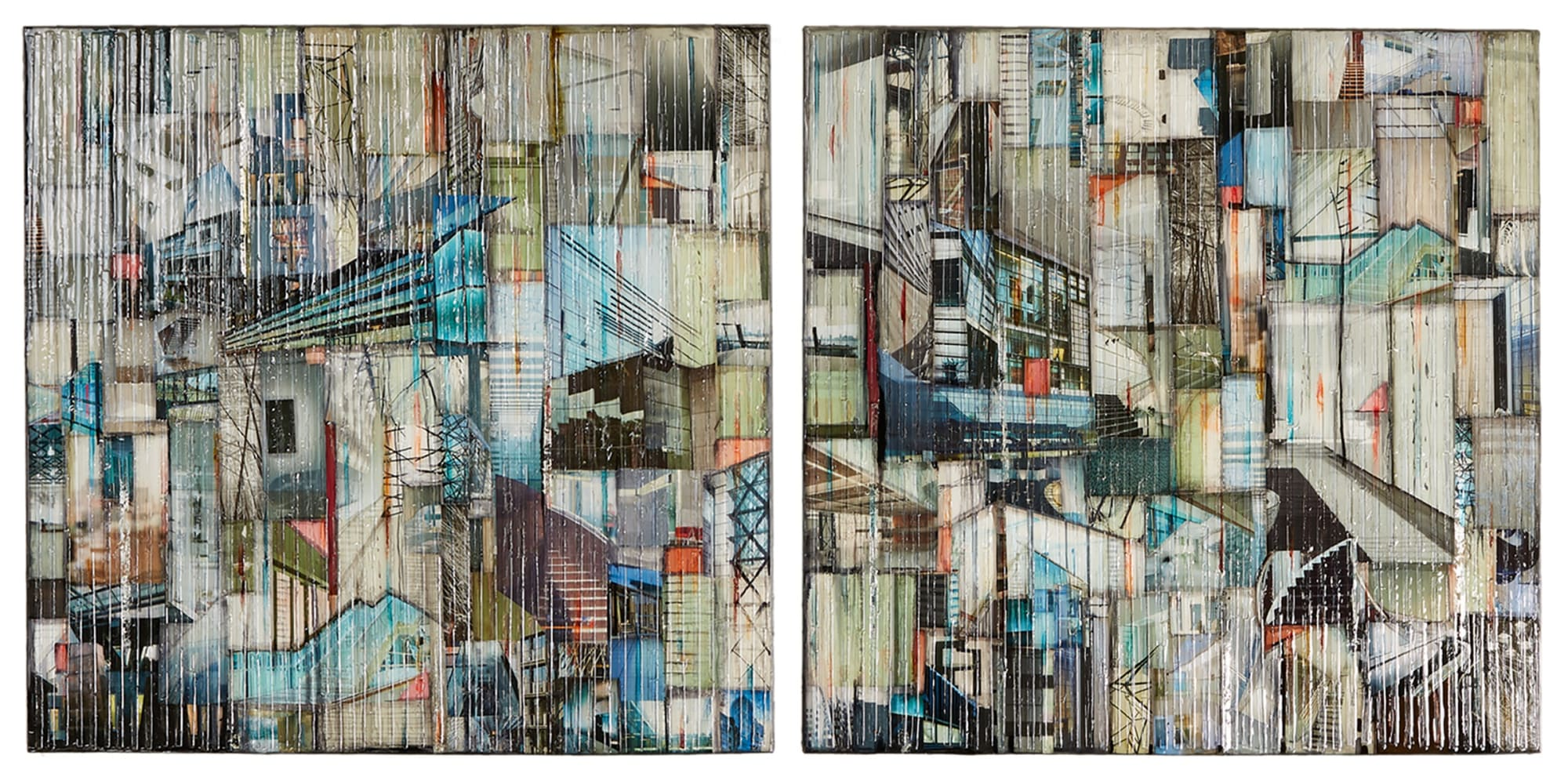 Madonna Phillips: Water Falling Diptych