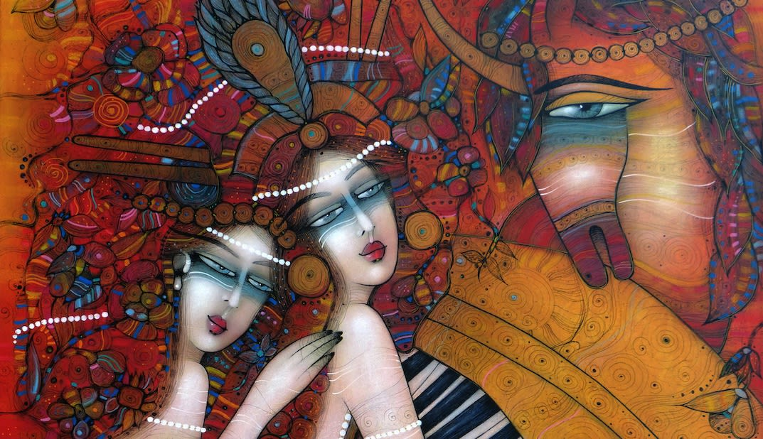 Albena Vatcheva, At the Opera. French Artist. Bulgarian Artist