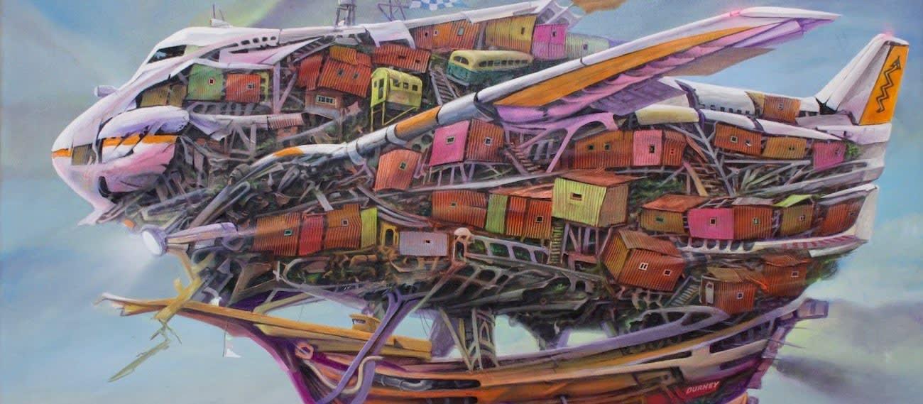 Lobsang Durney, Boeing 707. Chilean Artist