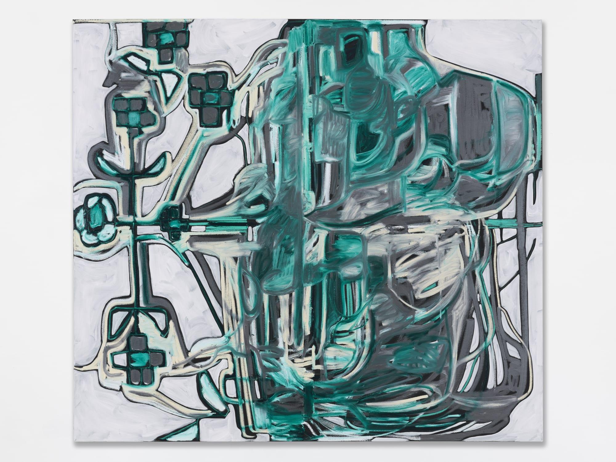 Melike Kara, k-23 Leaf and Blossom, 2020, Oil and acrylic on canvas, 180 x 200 cm