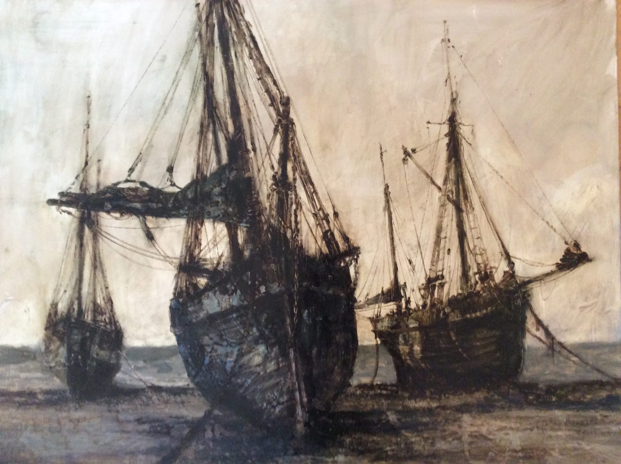 Trawlers on the Shore: Anthony Amos