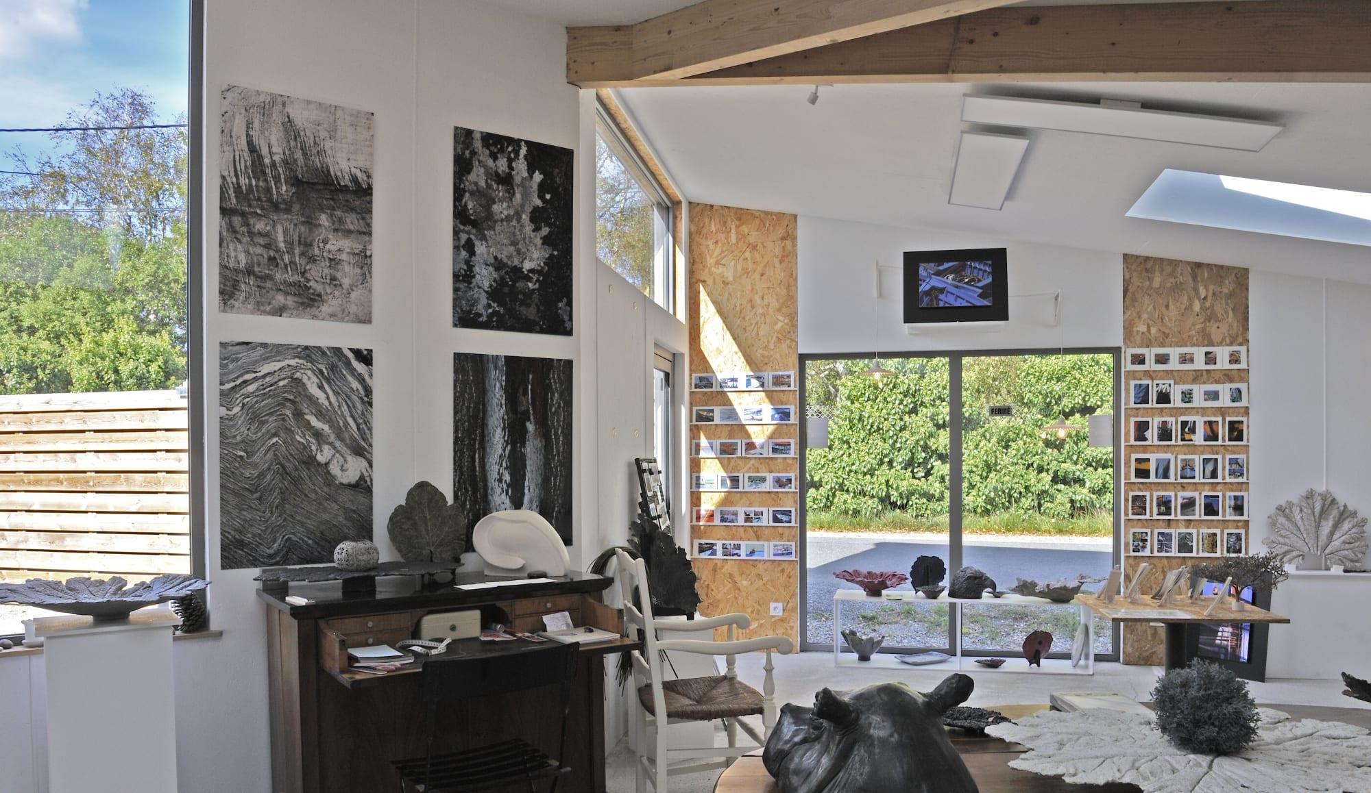 Art gallery in Sainte-Marine, Finistere, Britanny