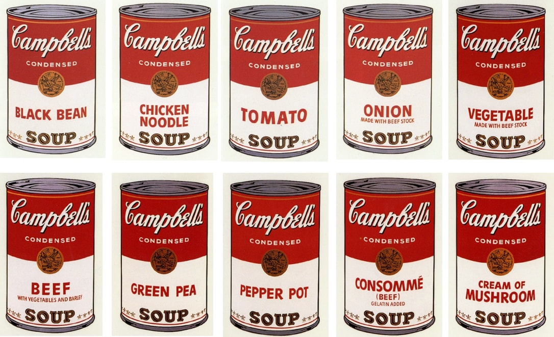 Campbell's Soup I, 1968 by Andy Warhol, Portfolio of Ten Screenprints form an edition of 250, at Coskun Fine Art