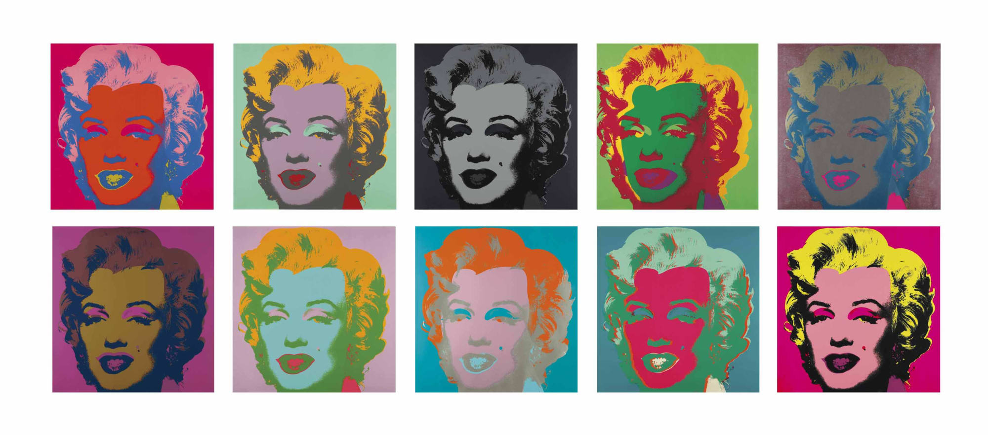 Marilyn Monroe, Marilyn, 1967 by Andy Warhol, Portfolio of ten screenprints from an edition of 300, at Coskun Fine Art