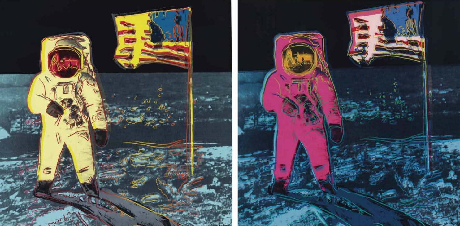 Moonwalk, II.402-403, 1987 by Andy Warhol, Portfolio of two Screenprints, edition 160, at Coskun Fine Art
