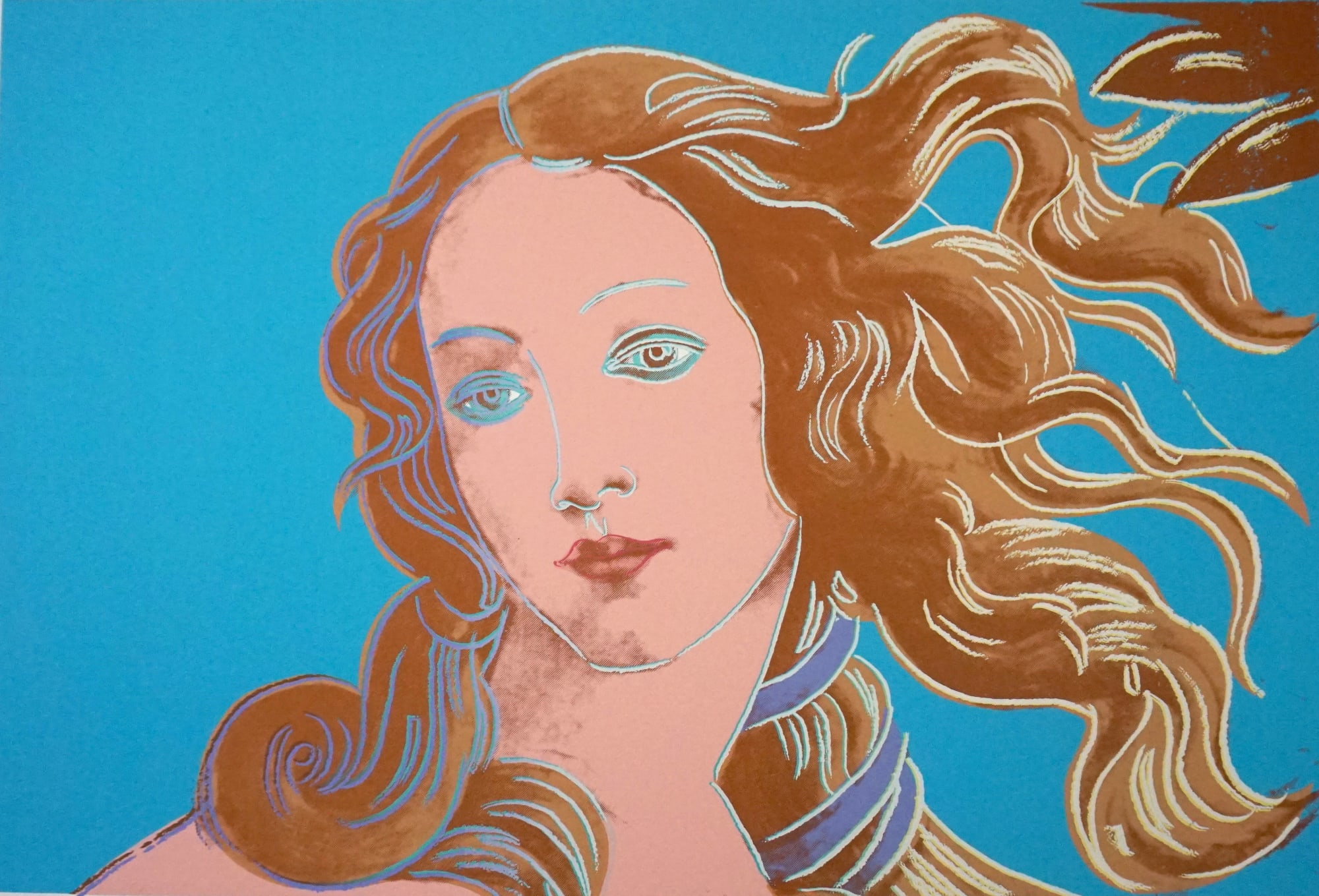 Details of Renaissance Paintings (Sandro Botticelli, Birth of Venus, 1482), 1984, by Andy Warhol, from the Portfolio of four Screenprints, Edition 70, at Coskun Fine Art