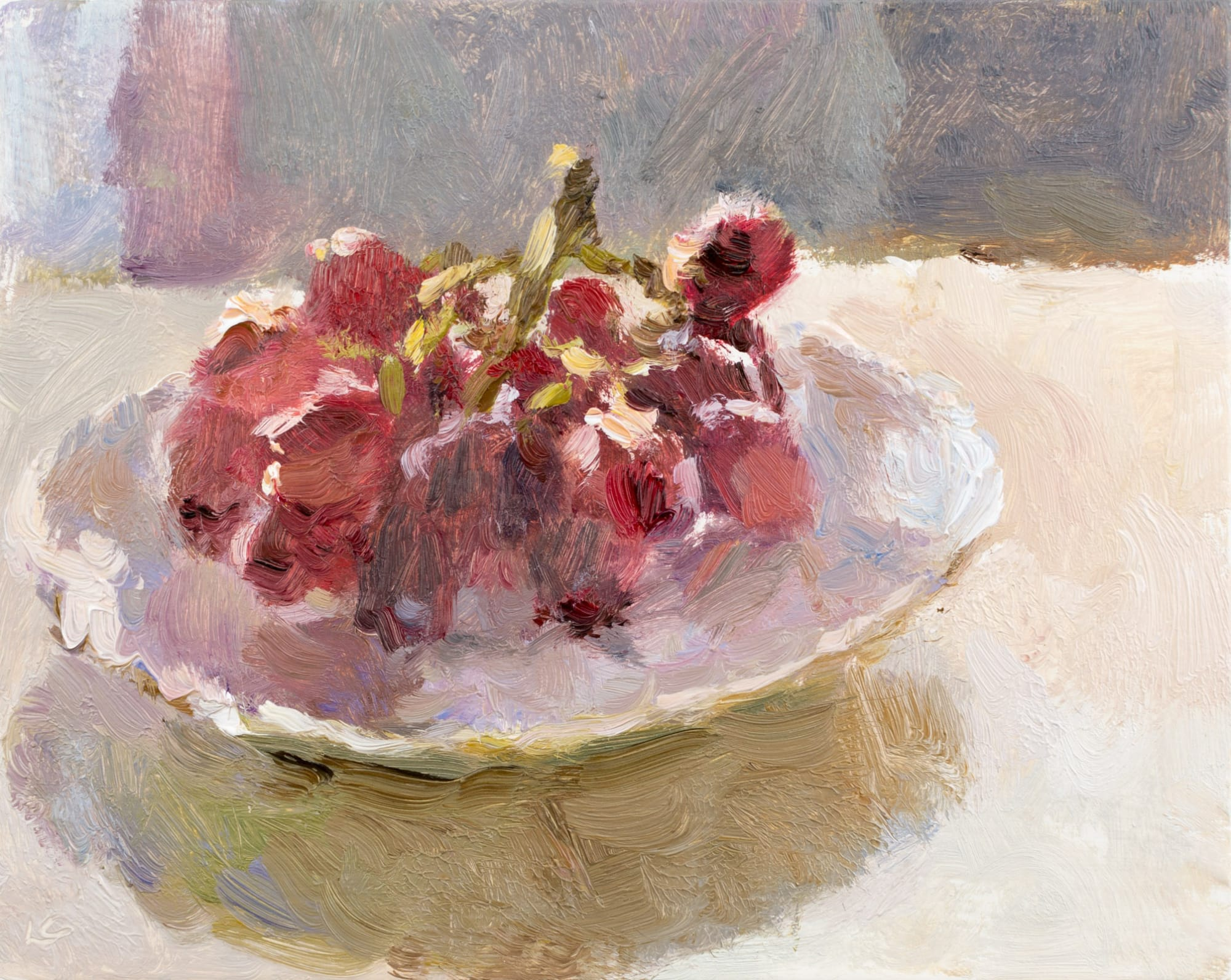 Lynne Cartlidge: Grapes in a Saucer