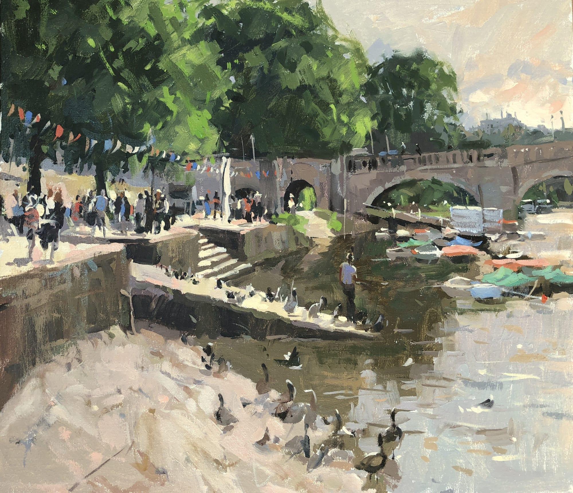 Haidee-Jo Summers: THE THAMES AT RICHMOND BRIDGE, MIDSUMMER