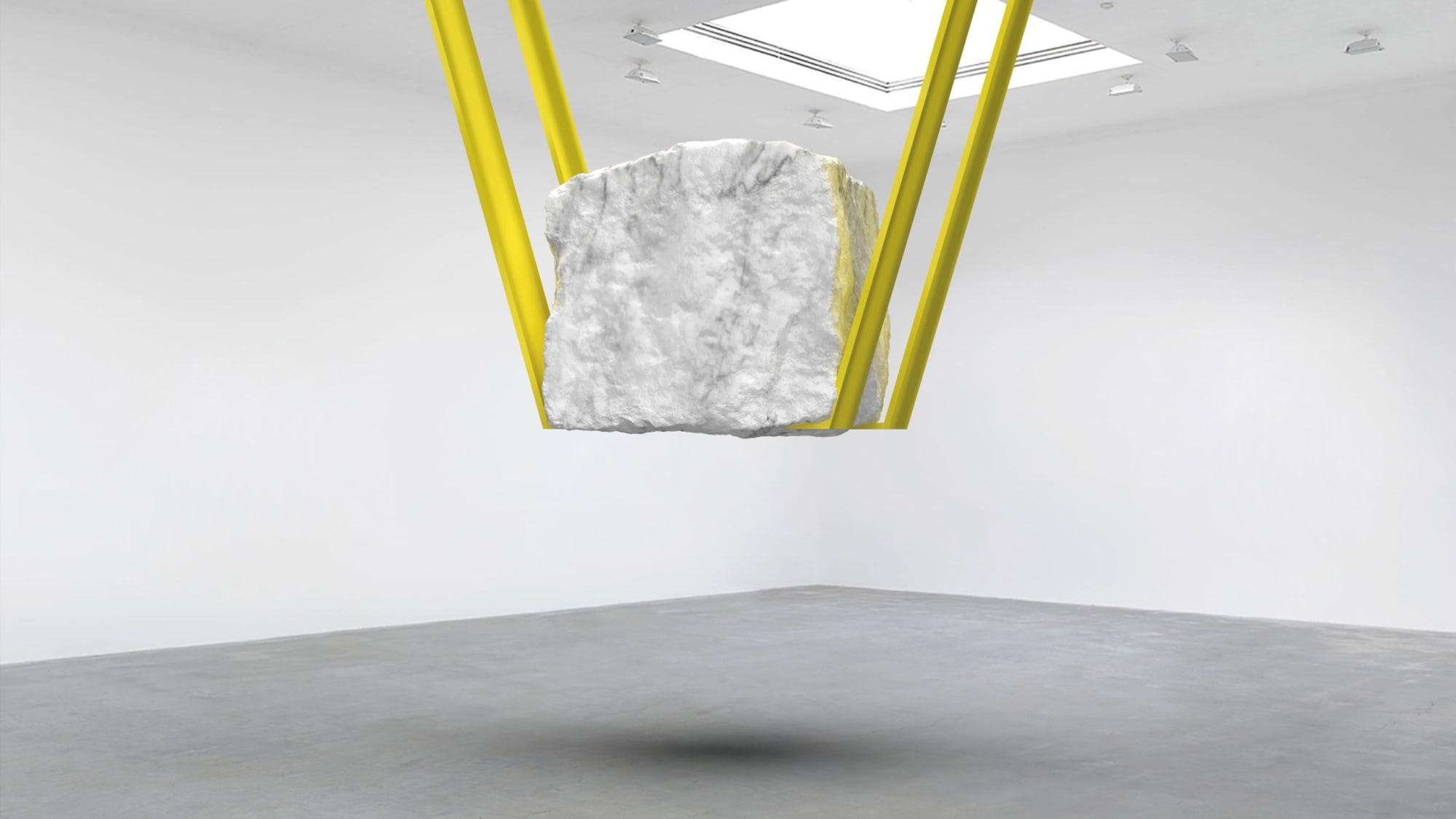Suspended Marble Tension Sculpture: Work in progress
