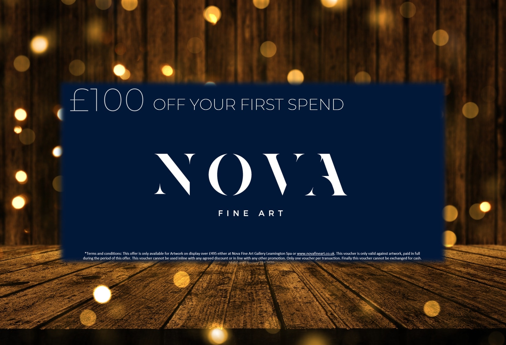 Celebrate the New Year in style, with £100* towards your personal art fund.