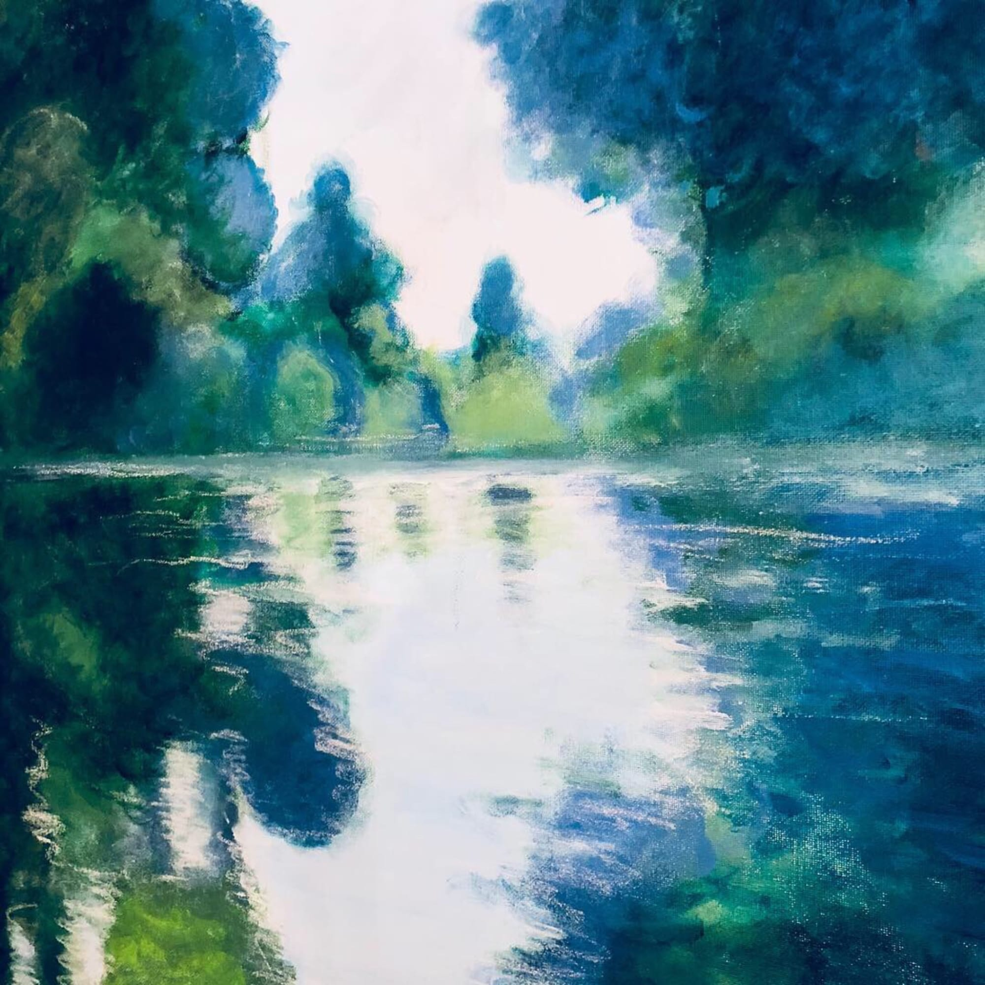 Monets river : Acrylic on canvas