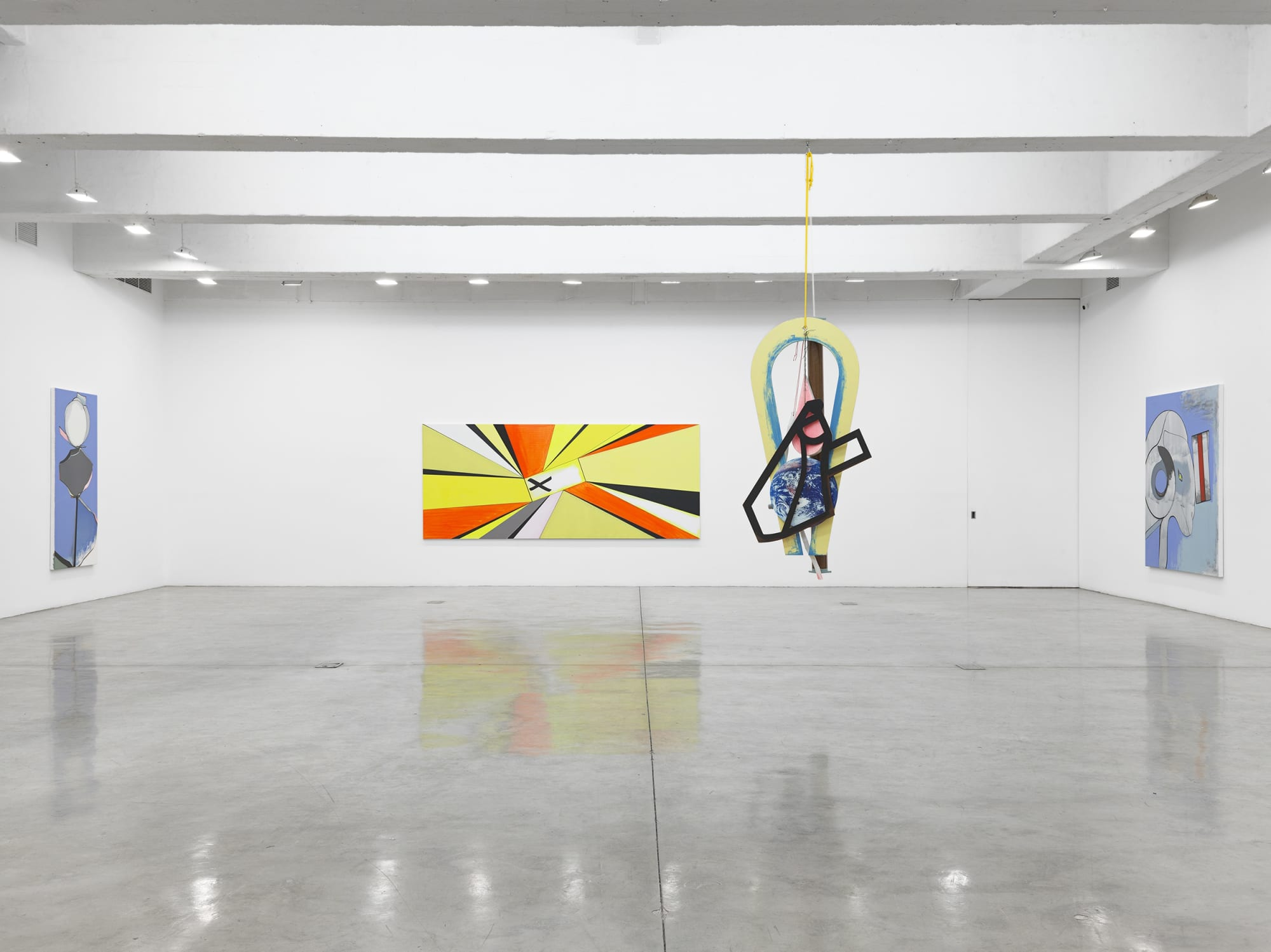 installation image of Thomas Scheibitz painting
