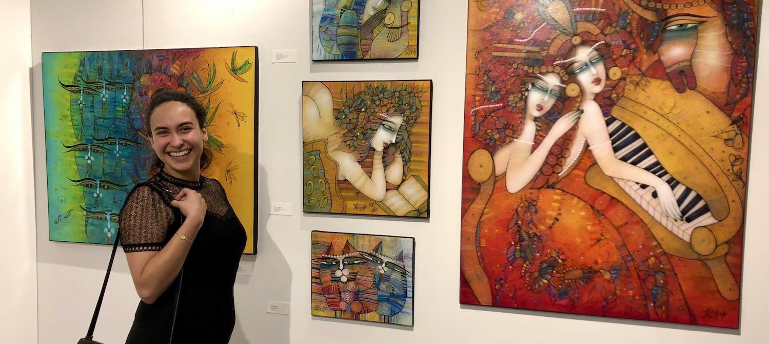 Art San Diego: Happy Art collector